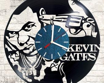 Vinyl wall clock Kevin Gates