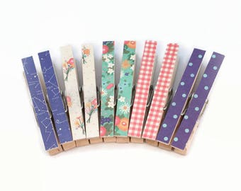 Decorative Clothespins, Magnetic Clothespins, Bag Clips, Photo Clips, Memo Holders, Office Organization, Office Decor, Kitchen Decor