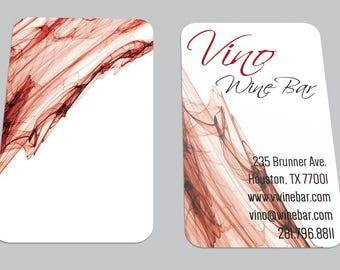 Modern Abstract Art Custom Printed BUSINESS CARD / Wine Bar / Restaurant / Calling Card / Contact Card