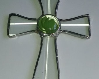 Stained Glass Cross ( Clear )
