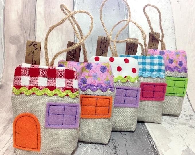 Lavender house, Lavender Hanging Bag, Hanging Scented Sachet, Organic Lavender, Lavender Hanging Pouch, Housewarming Gift, Room Freshener