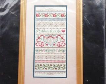 Bucilla counted cross stitch sampler craft kit