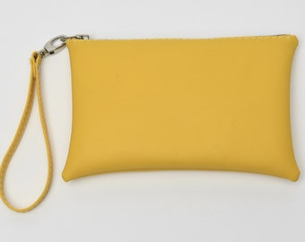 Yellow Wristlet/Clutch Purse