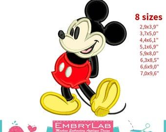 Applique Mickey Mouse. Machine Embroidery Applique Design. Instant Digital Download (16304)