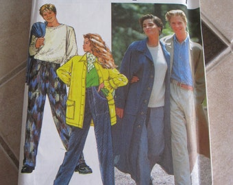 PATTERN Simplicity 7584 / coat and pants for men or women size: xsmall to xlarge