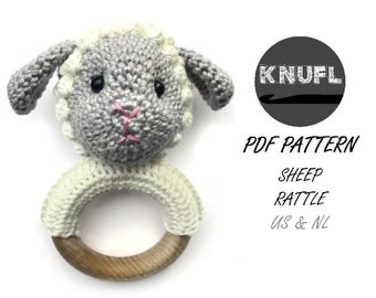 CROCHET PATTERN  rattle sheep