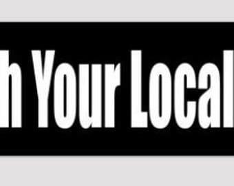 Punch Your Local Nazi bumper sticker