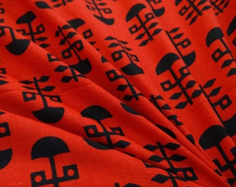"""Decorative Cotton Fabric For Sewing Designer 45"""" Wide Dressmaking Cotton Printed Red Fabric For Sewing Craft Material By 1 Yard ZBC6610"""