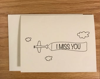 Thinking of you card, Miss you card, Love card, Friend card