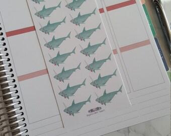 16 Fun Birthday/Celebrate Shark Stickers