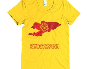 The Kyrgyzstan Flag T-Shirt (women)