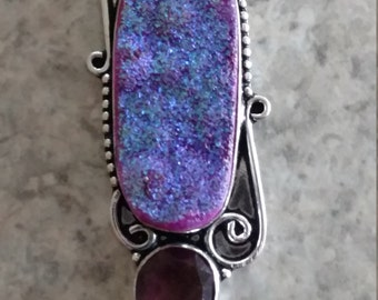 Beautiful Druzy and Amethyst Necklace