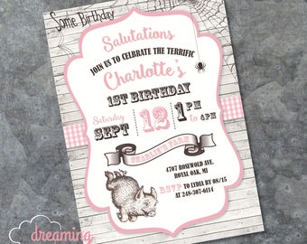 Charlotte's Web Birthday Invitation - Any age!