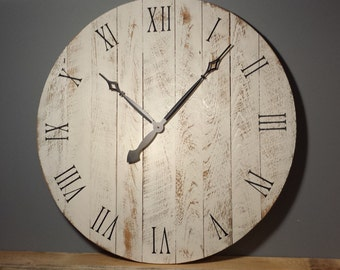 "36"" Large Rustic Wall Clock"