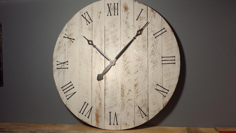 36 large rustic wall clock. Black Bedroom Furniture Sets. Home Design Ideas
