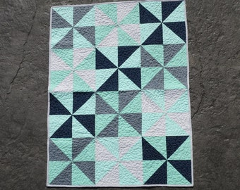Baby crib quilt, baby bedding, baby blanket, baby quilt, crib bedding, boho baby quilt, baby boy quilt, navy, teal,and gray quilt, boy quilt