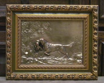 Hunting dog. Pictures of copper.