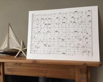 Hand Drawn Custom Sheet Music