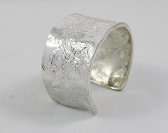 Reticulated Sterling Silver Cuff