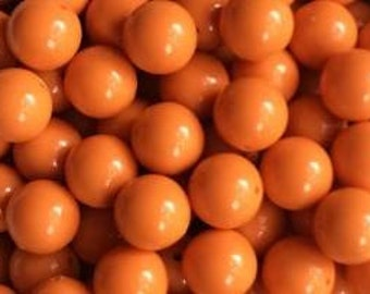 Orange Solid Beads 20mm 14 count