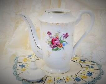 Teapot From Japan/Vintage Teapot/Highmount Quality/MBD Co/Teapot/Japan/Floral Teapot/Tall Teapot/Gold Gild Teapot/Old Teapot/Teapot Japan