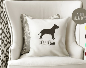 Personalized Pit Bull Pillow Cover