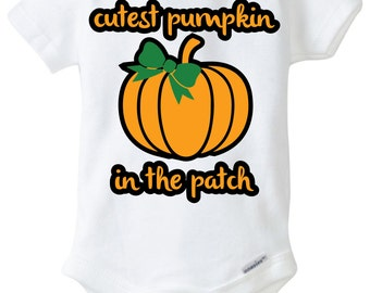 Cutest Pumpkin Onesie Design, SVG, DXF, EPS Vector files for use with Cricut or Silhouette Vinyl Cutting Machine