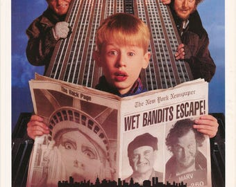 Home Alone 2 Lost In New York  Macaulay Culkin  1992 Rare Vintage Poster