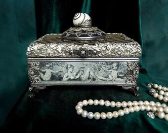 шкатулка, шкатулка для украшений, наутилус, раковина, casket, jewerly box, Nautilus