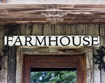 48 inch Farmhouse Wood Sign//Shiplap Sign//Farmhouse Sign//Farmstand Sign// White Sign