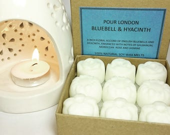 FREE UK SHIPPING! Bluebell & Hyacinth Scented Soy Wax Melts x 9