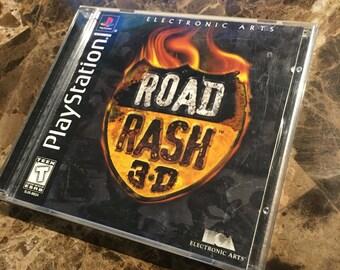PS1 Road Rash 3-D
