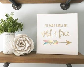 Wild & Free - Canvas