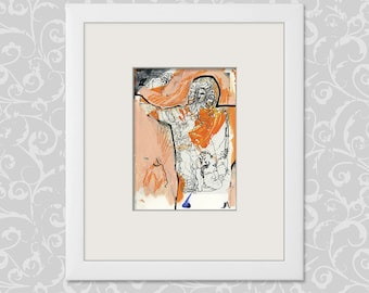 Abstract-figurative painting-drawing