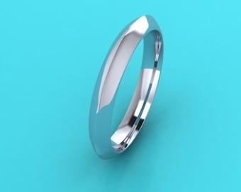 PLATINUM 3mm  knife edge  Wedding Band /platinum  wedding Ring /platinum wedding ring / anniversary engagement ring / commitment ring