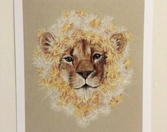 "Dandelion - 8 x 10"" Original Art Print"