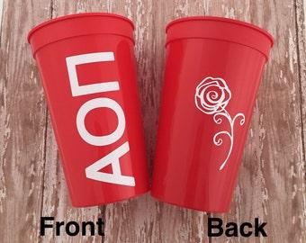 Alpha Omicron Pi Sorority Cup;  Alpha Omicron Pi Cup; Alpha Omicron Pi Cup; Alpha Omicron Pi Stadium Cup; AOII Tumbler; AOII Gift; AOII Cup
