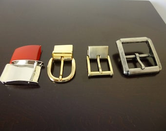 Vintage belt buckles,made in Italy,small buckles,DIY,belt making,old metal buckle,prong,