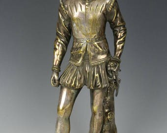 "Antique french Ron Sauvage Bronze ""Young Nobleman"""