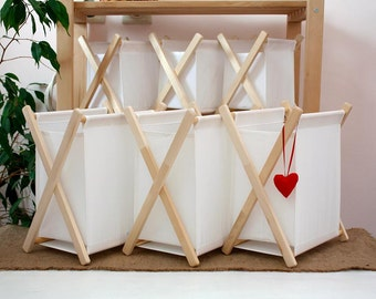 Set of 6 boxes. White boxes Home furniture Space organiser Collapsible box Baskets and Bowls Stylish and easy