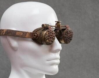 Burning Man Goggles - Post Apocalyptic Steampunk Mad Max Style Eyewear - Burning Man Accessories - Post Apocalyptic Goggles