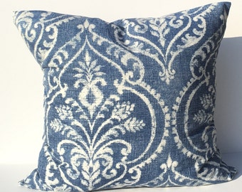 Blue and white throw pillow cover , home decor throw pillow cover , accent decorative throw pillow cover