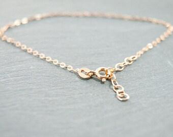 "fine chain bracelet sterling silver 925 length 6,29""-7,48"" #3845"