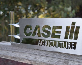 Case ih etsy stainless steel case ih rain gauge sciox Choice Image