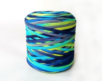 Neon Colorful bulky T-shirt yarn, recycled t shirt yarn, tshirt yarn, recycled cotton yarn, jersey yarn, tricot yarn, yarn for carpet, bulky
