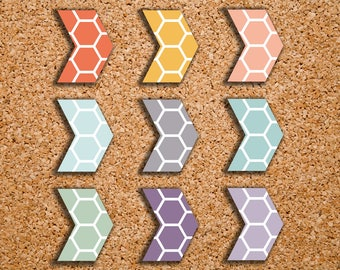 135 Hexagon Pattern Arrow Geometric Shape Planner Stickers for 2017 Inkwell Press IWP-S83