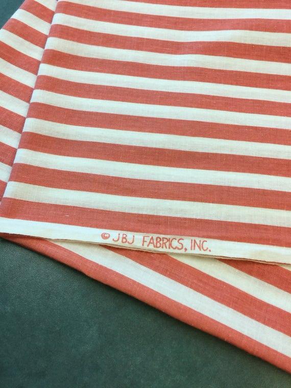 Reserved Orange Striped Fabric 3 Fq Candy Stripe Fabric