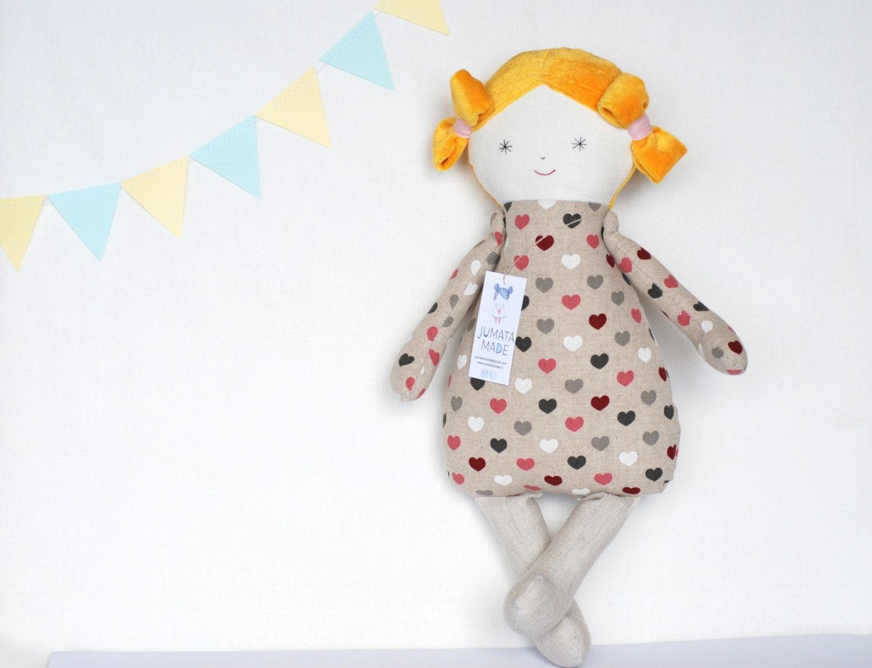 Cloth Baby Doll Ella Handmade Dolls Fabric Dolls Soft Doll