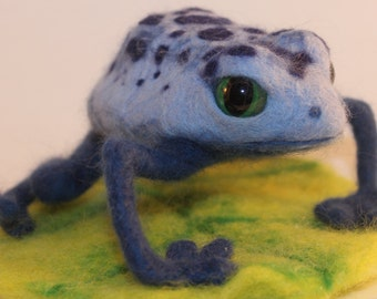 Needlefelted Poison Dart Frog