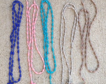 Handmade Knotted Rosary Necklace - made to order - now in 42 colors